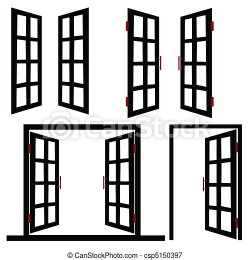 window and door black illustration - csp5150397