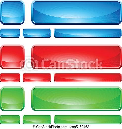 Glass Shapes, button - csp5150463