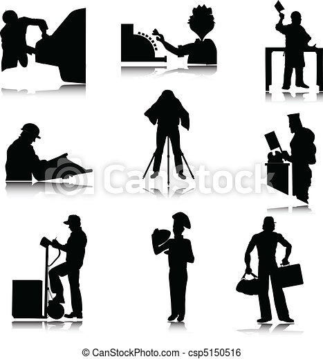 work people illustration silhouette - csp5150516