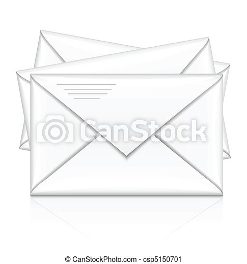 group of white postal envelope - csp5150701