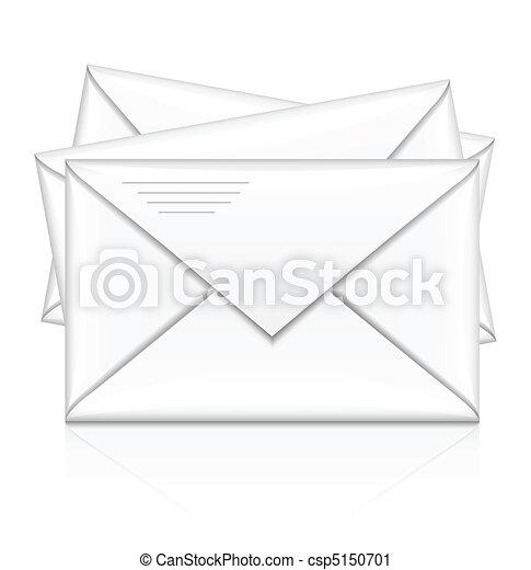 group of white postal envelope - csp5150701