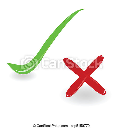 yes and no vector illustration - csp5150770