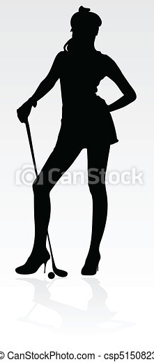 young girl play golf - csp5150823