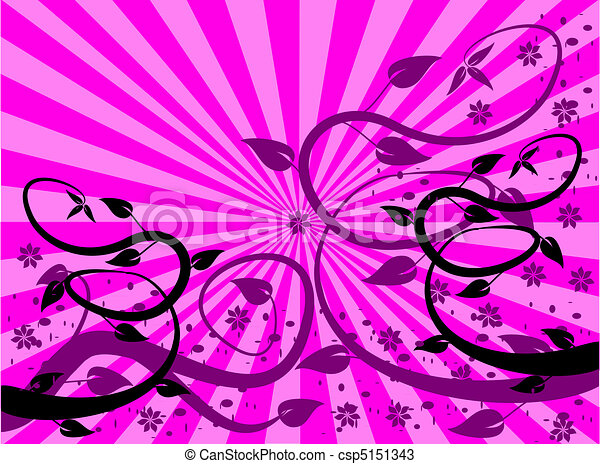 A magenta and purple floral background - csp5151343