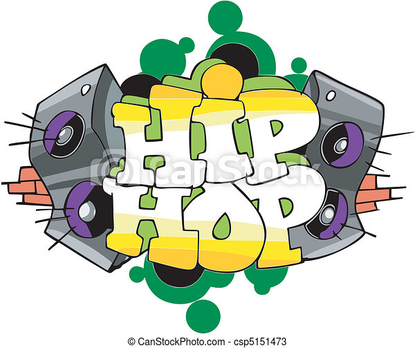Hip Hop graffiti design - csp5151473