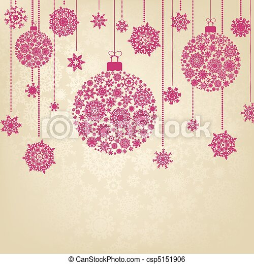 Stylized Christmas Balls. EPS 8 - csp5151906