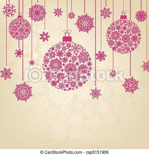 Stylized Christmas Balls. EPS 8 - csp5151906