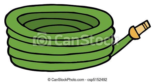 Green Garden Hose - csp5152492