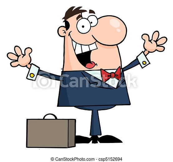 Happy Caucasian Businessman - csp5152694