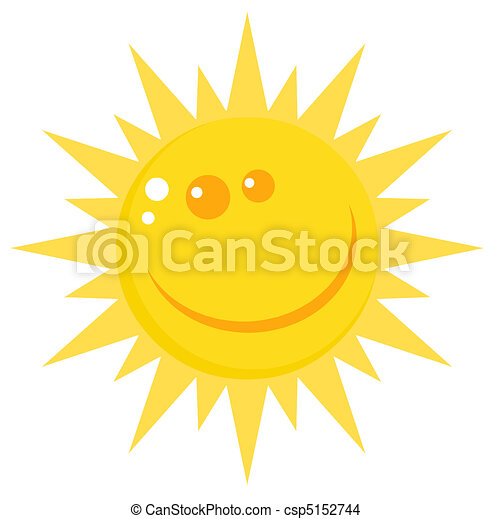 Happy Sun Face With A Smile - csp5152744