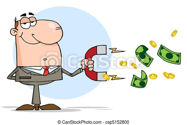 Businessman Using A Magnet - csp5152800