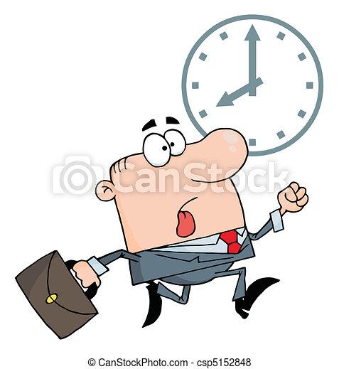 Businessman Being Late - csp5152848