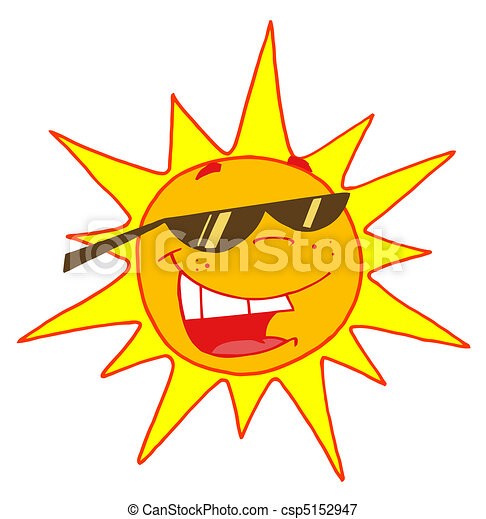 Summer Sun Wearing Shades - csp5152947