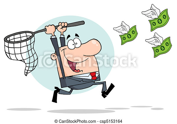 Businessman Chasing Money - csp5153164