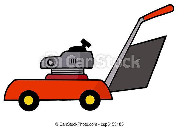 Lawn Mower Drawings Red Lawn Mower Gardening