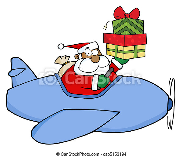 African American Santa Claus - csp5153194