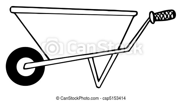 eps vector of gardening wheel barrow coloring page outline of a csp5153414 search clip. Black Bedroom Furniture Sets. Home Design Ideas