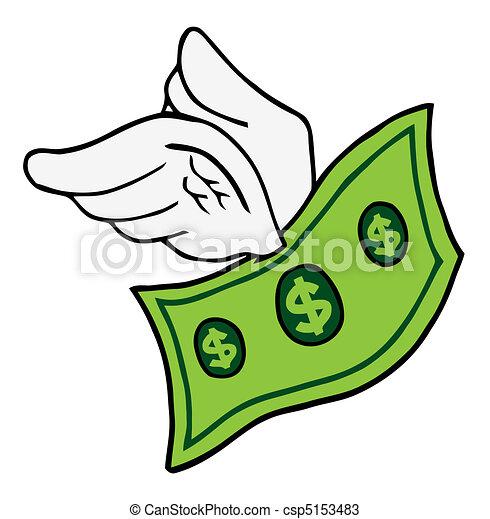 Flying Dollar  - csp5153483