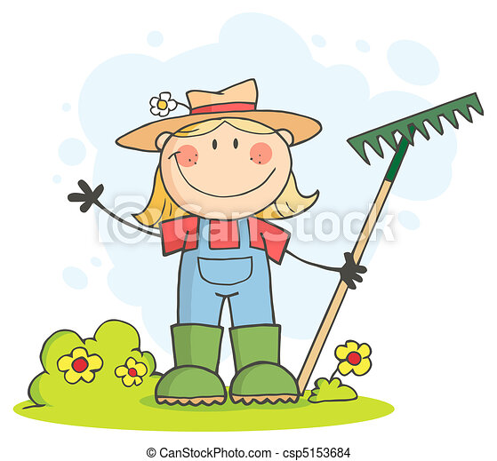 Caucasian Farmer Girl - csp5153684