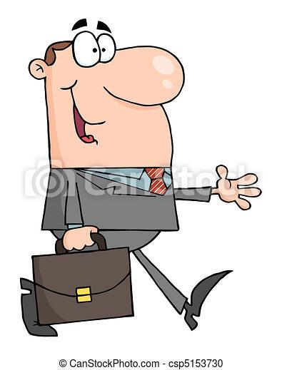 Smiled Businessman Walking  - csp5153730