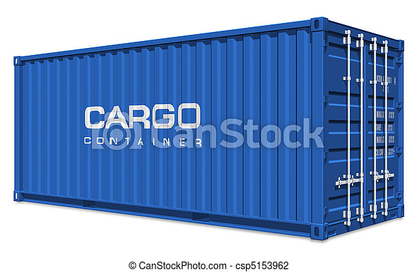 Blue cargo container - csp5153962