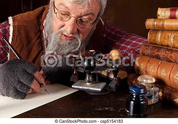 Antique office worker - csp5154183