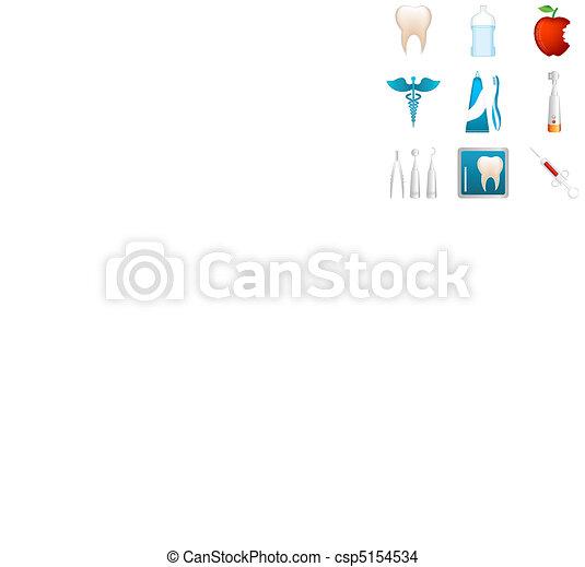 dental icons - csp5154534