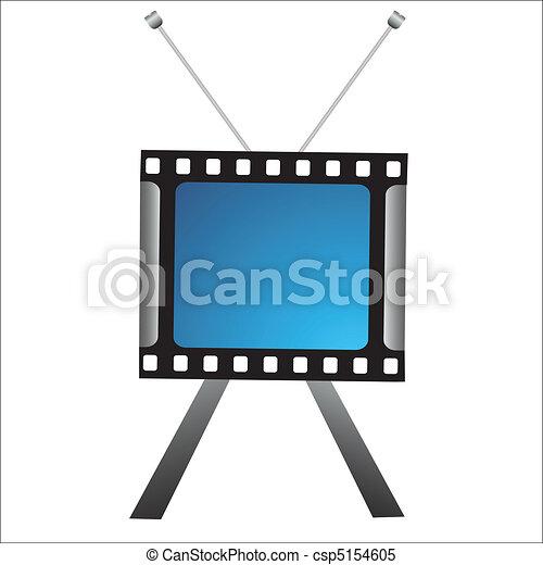 creative tv icon - csp5154605
