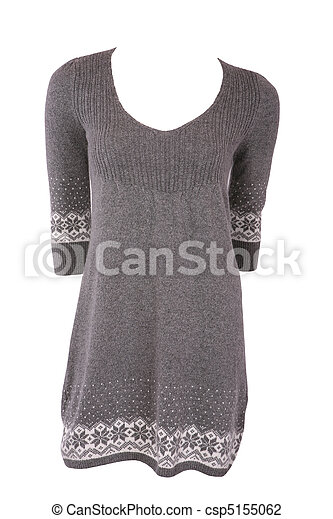 Winter female tunic with snowflakes - csp5155062