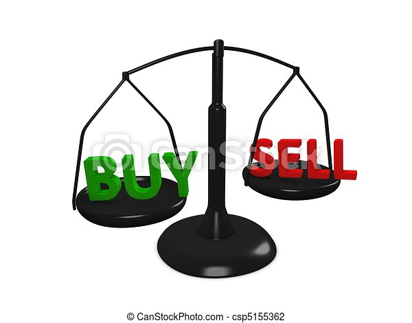 Clip Art of Buy Sell - Stock market Buy and Sell concept image ...