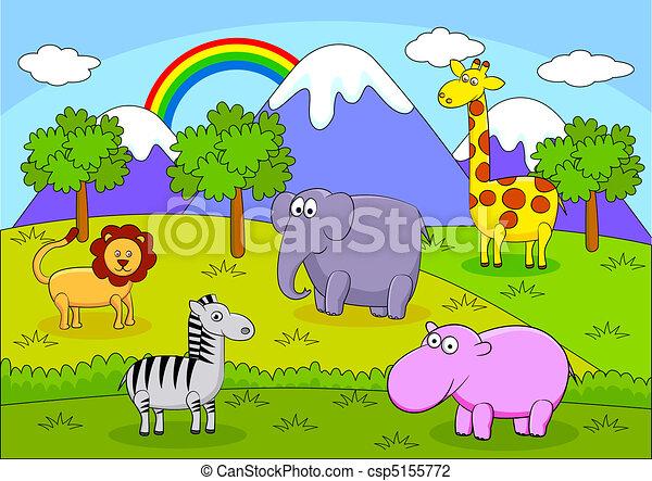 Safari Animal carton - csp5155772