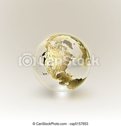 Golden Globe (Global and Communication concept) - csp5157653