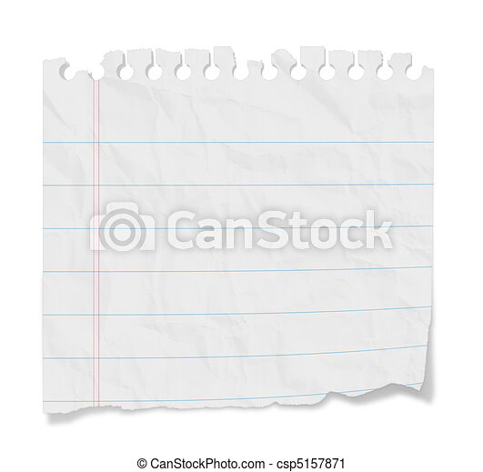 Blank Note - Lined Paper - csp5157871