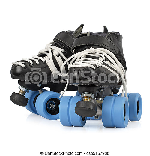 Roller derby skates isolated - csp5157988