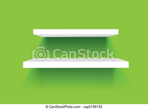 White Book Shelves - csp5158133