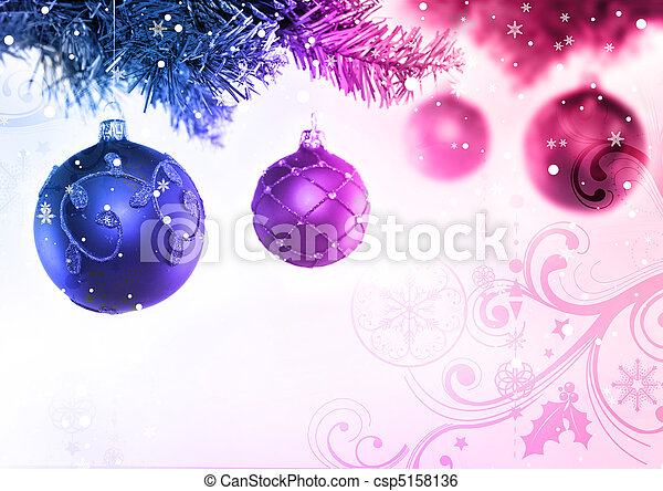 Christmas Tree & Baubles - csp5158136