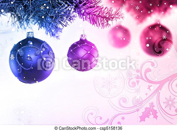 Christmas Tree & Baubles - csp5158136