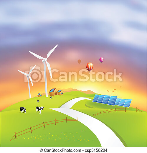 Beautiful Clean Energy - csp5158204