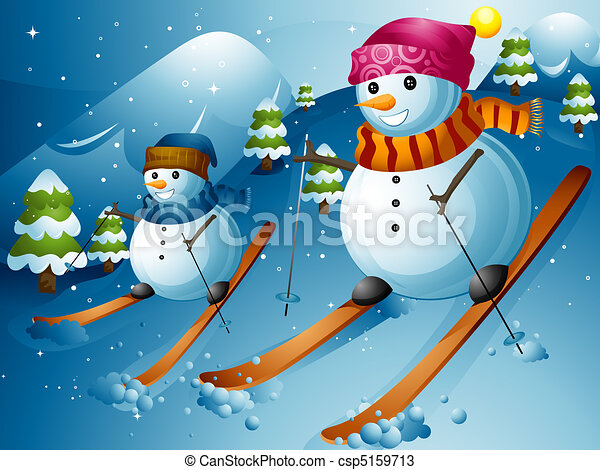 Snowman Ski - csp5159713