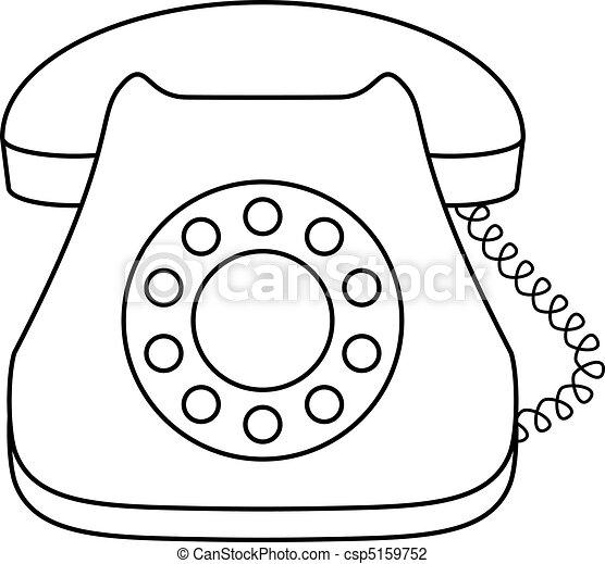 Schreibtisch büro clipart  Vektor Illustration von telefon, wählscheibe, schreibtisch - Phone ...