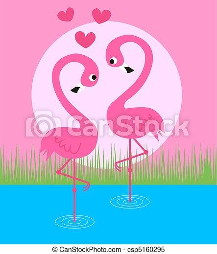 illustrations de flamigo couple flamant rose couple amour csp5160295 recherchez des. Black Bedroom Furniture Sets. Home Design Ideas