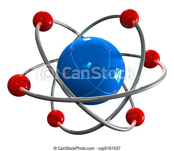 Atom model - csp5161537