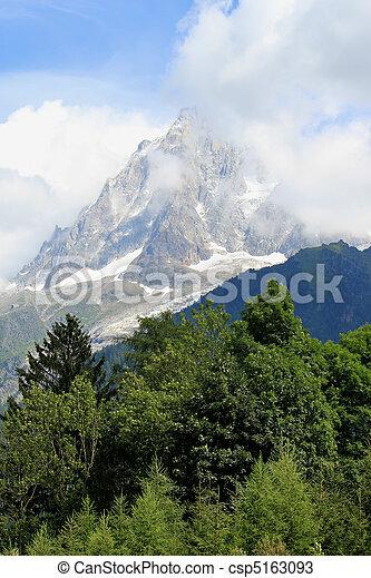 Mont-Blanc massif, France - csp5163093