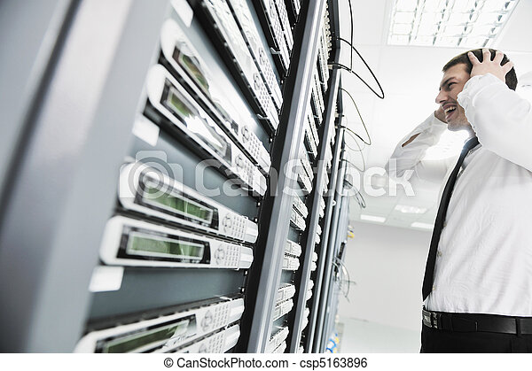 system fail situation in network server room - csp5163896