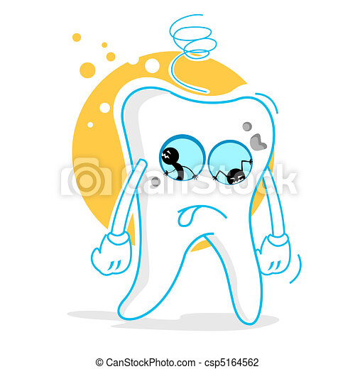 sad teeth - csp5164562