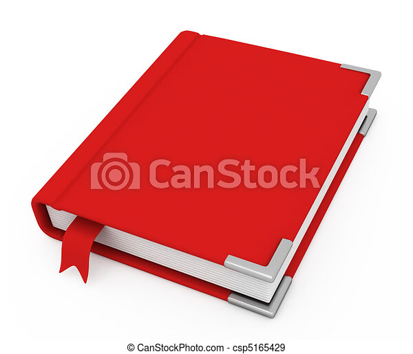3d book with a blank cover - csp5165429