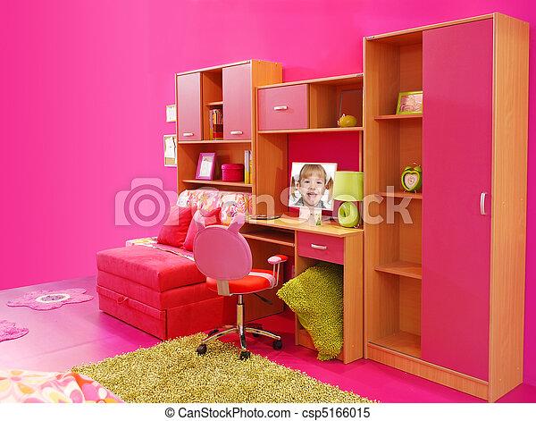 Stock Bilder Von Kinder Rosa Zimmer Csp5166015 Suchen
