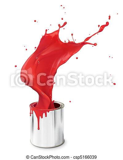 red paint splash - csp5166039