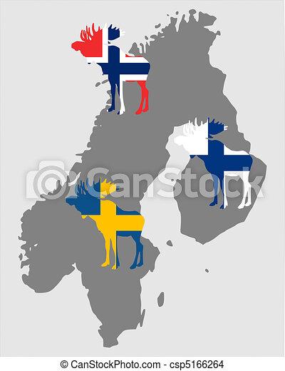 Scandinavian moose - csp5166264