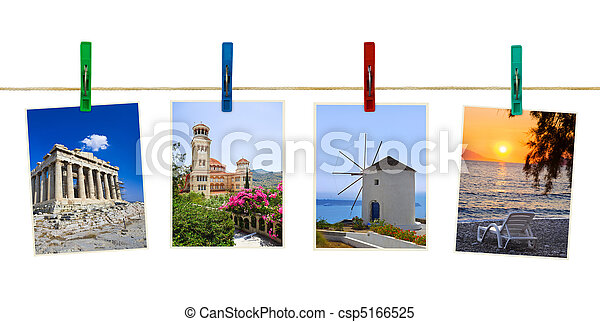Greece photography on clothespins - csp5166525